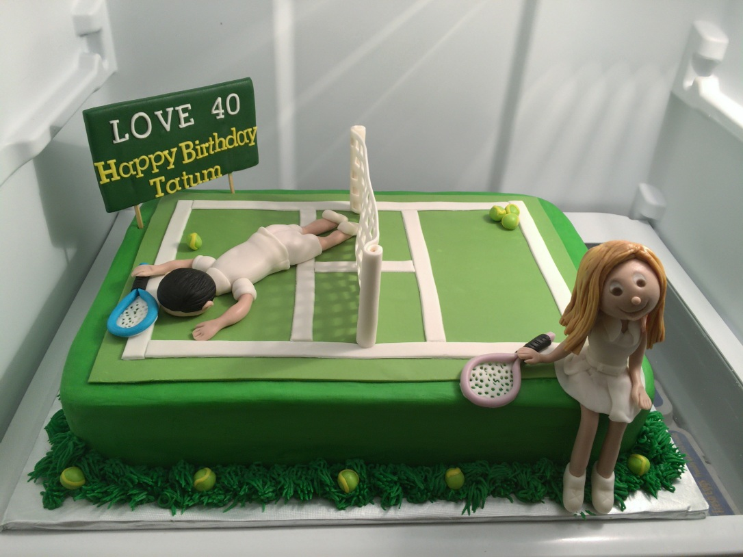 Prime Tennis 40Th Birthday Cake Cakes By Ire Personalised Birthday Cards Veneteletsinfo